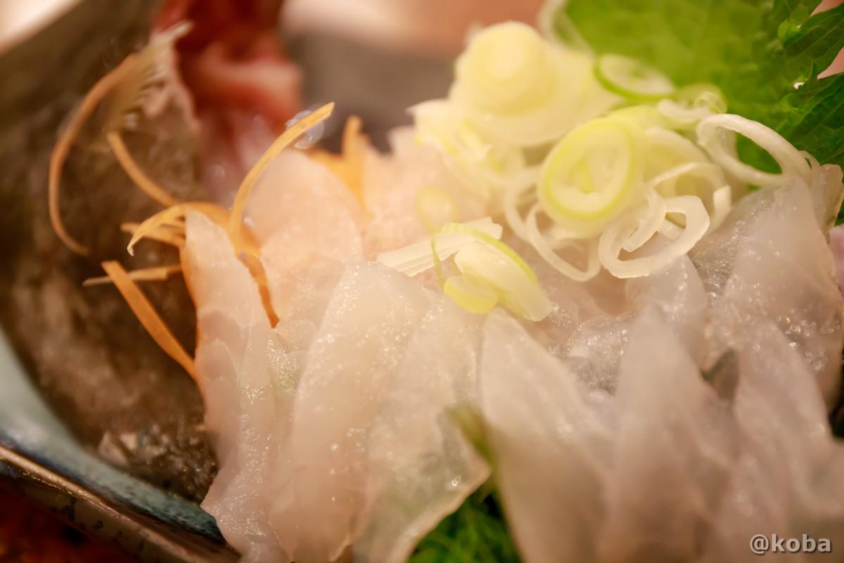 カワハギ刺身〈三重産〉│大衆酒場 ゑびす(えびす)居酒屋 和食│東京葛飾区 四ツ木
