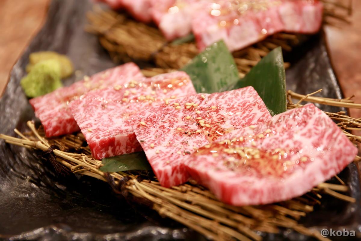 特選赤身肉、カイノミの写真│炭火焼肉 矢つぐ(やつぐ)│東京都江戸川区・新小岩