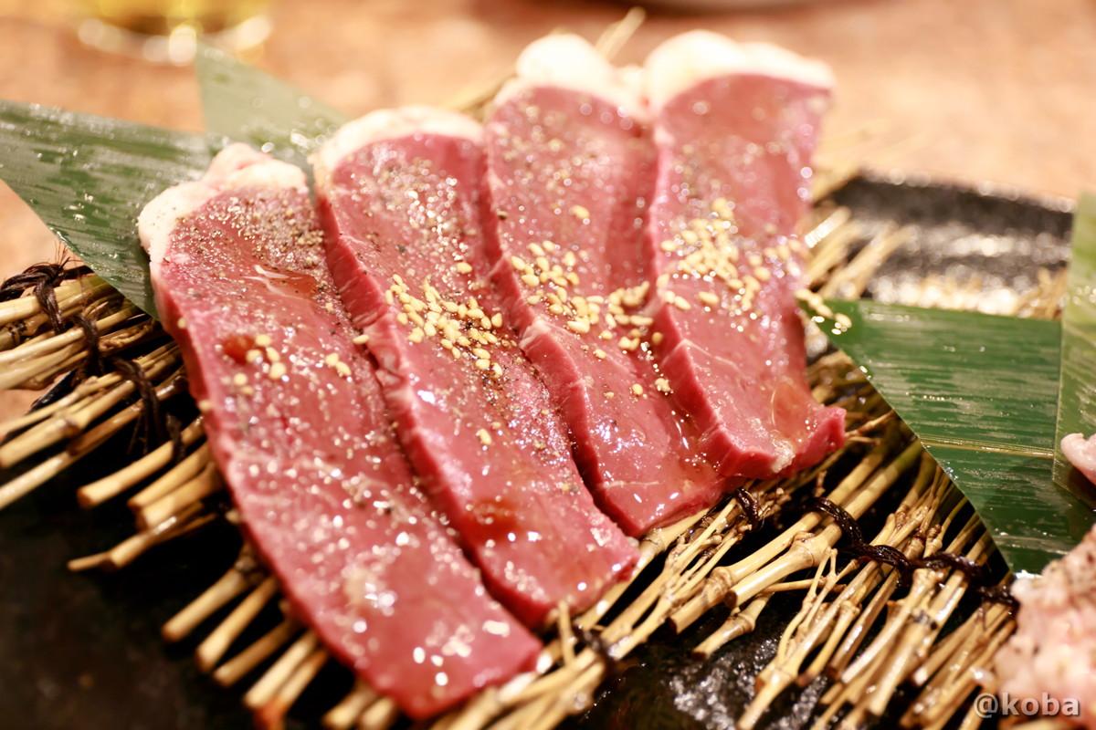 脂が付いているハツの写真 脂が付いている心臓「アブシン」 │炭火焼肉 矢つぐ(やつぐ)│東京都江戸川区・新小岩