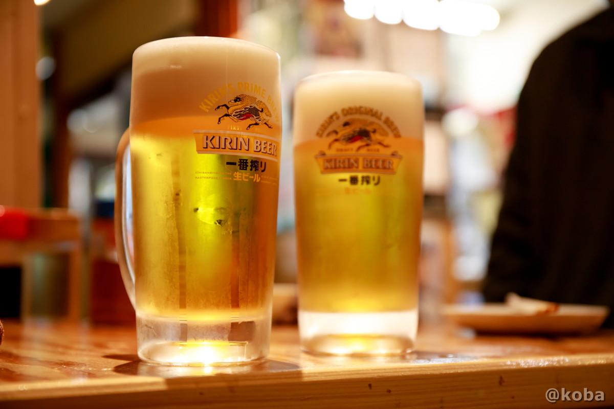 ハッピーアワー 生ビールが半額 キリン一番搾りジョッキビールの写真|小江戸(coedo)居酒屋 もつ焼き|東京都葛飾区・京成青砥