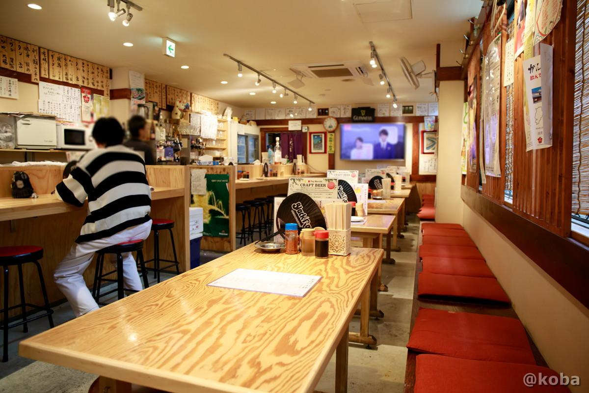 内観 テーブル席とカウンター席の写真|小江戸(coedo)居酒屋 もつ焼き|東京都葛飾区・京成青砥