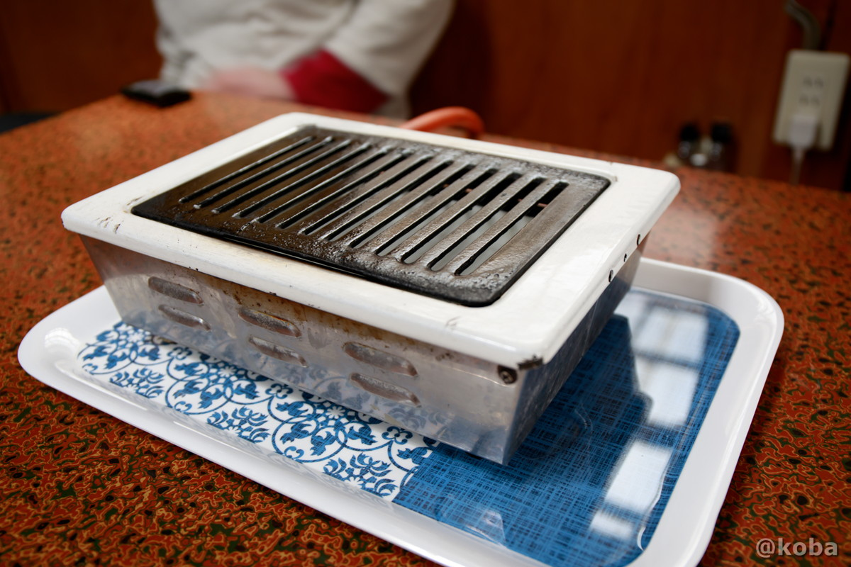 ガス卓上ロースターの写真 八千代温泉 芹の湯 食事処 群馬県 下仁田町