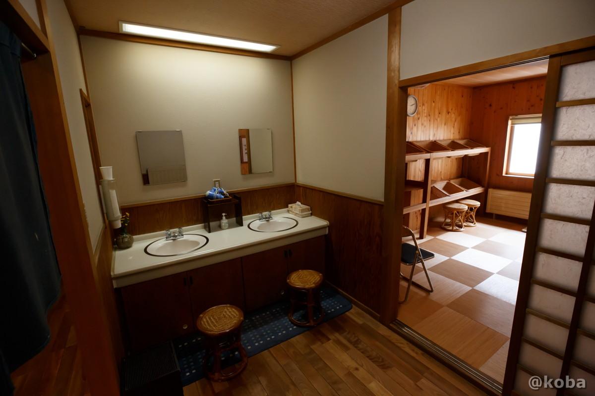 洗面室・ドライヤーの写真|内山峠 初谷温泉(うちやまとうげ しょやおんせん)|長野県佐久市