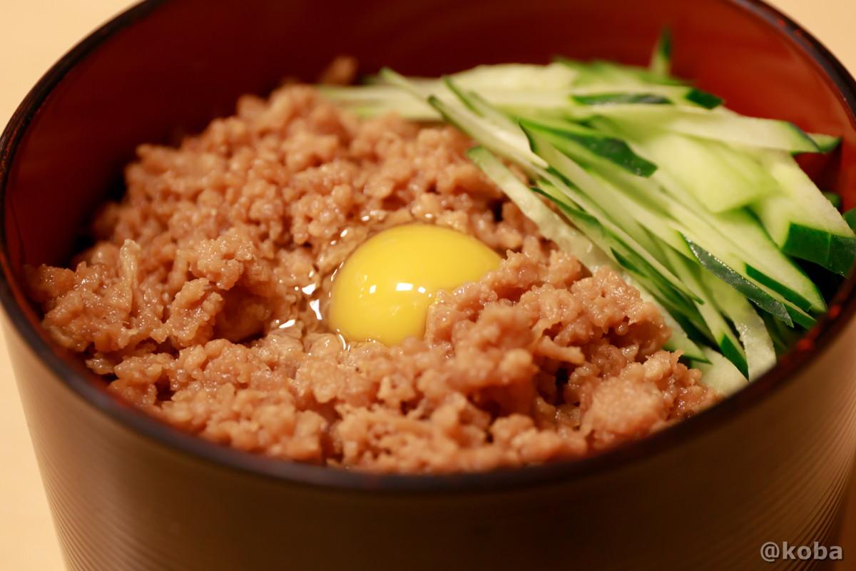鶏そぼろ丼の写真|大衆酒蔵 鳥益(とります)焼鳥・居酒屋|東京都葛飾区・新小岩
