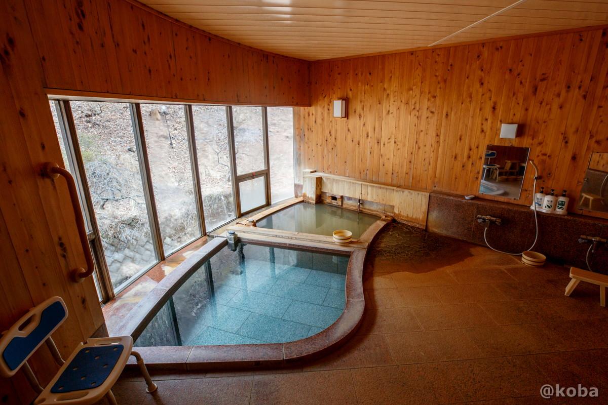 入り口から観た内湯浴槽の写真|内山峠 初谷温泉(うちやまとうげ しょやおんせん)|長野県佐久市