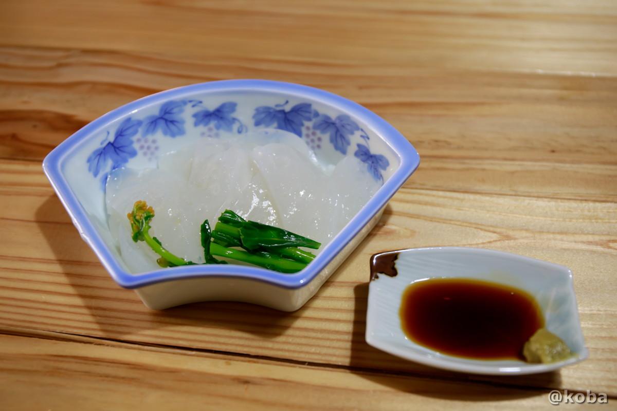 手造り 刺身蒟蒻の写真|レストラン せせらぎ|星尾温泉 お食事処|群馬県