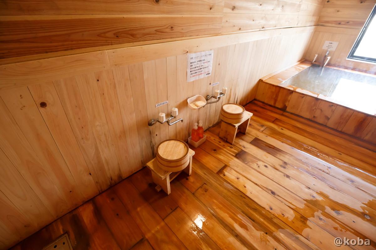洗い場 2人分のカランの写真|日帰り温泉施設|ほしおおんせん このはいしのゆ|ぐんまけん