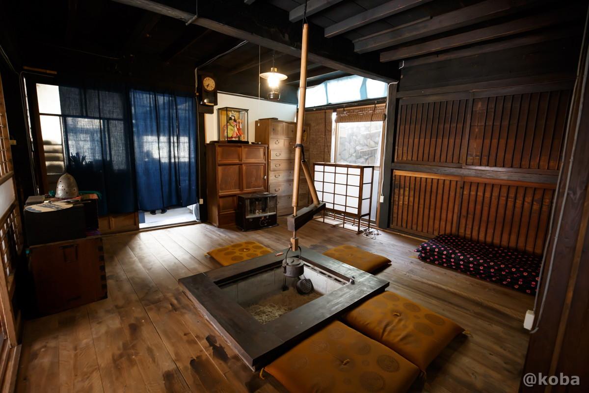 囲炉裏・談話スペースの写真|日帰り入浴|星尾温泉 木の葉石の湯|群馬県