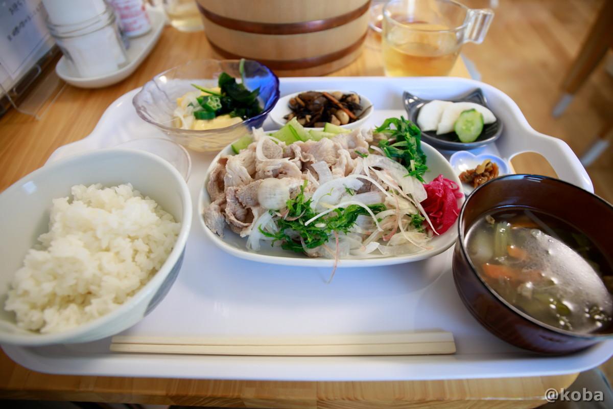 冷しゃぶ定食の写真|そらのすぷーん 定食屋|東京都葛飾区・奥戸