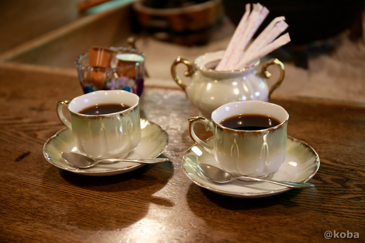 湧き水コーヒーの写真|滝沢温泉 滝沢館|日本秘湯を守る会|群馬県