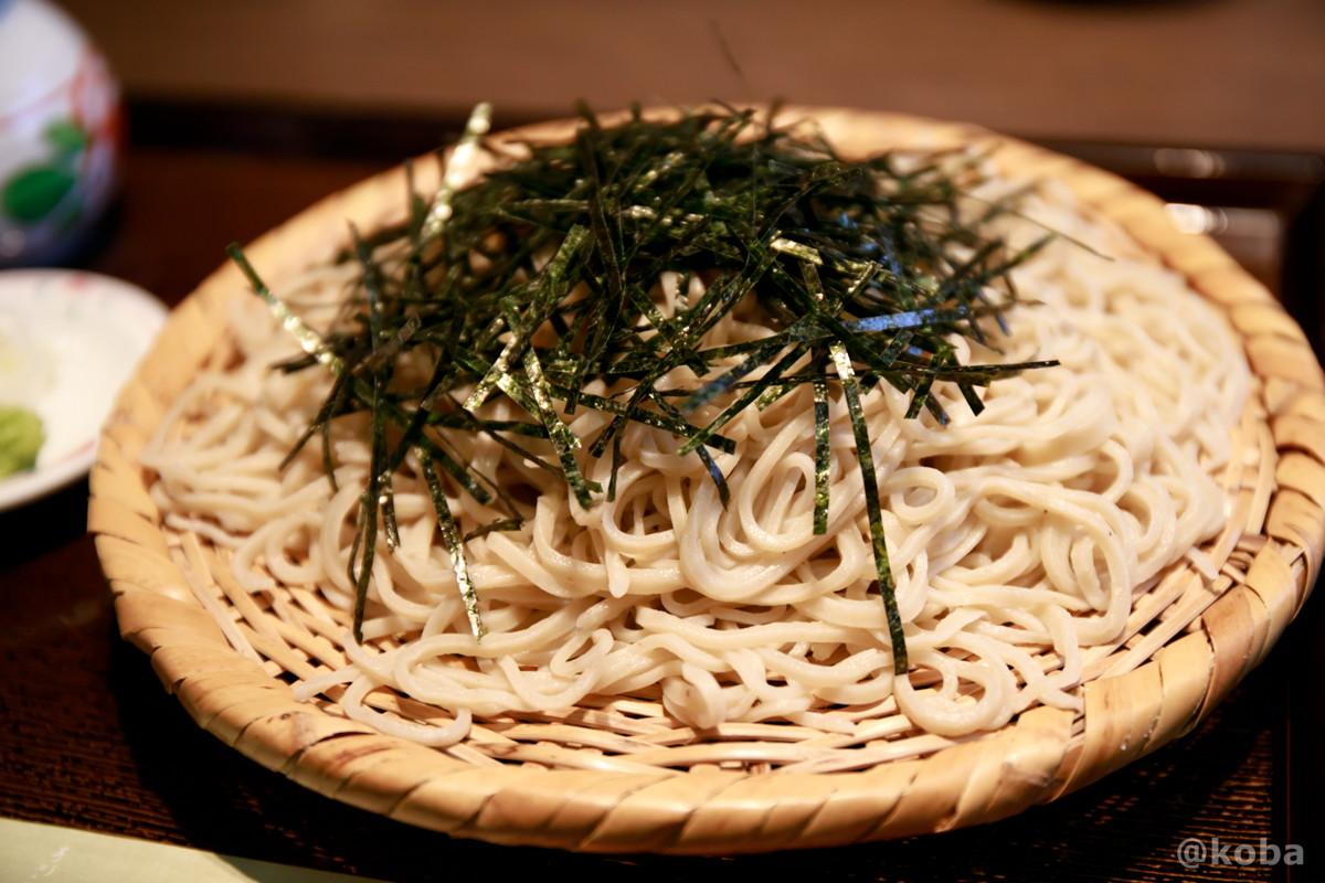 のりかけせいろ 蕎麦は大盛りの写真|人と木(ひととき) 手打ち蕎麦 ランチ 食事処|東京都葛飾区・堀切菖蒲園駅