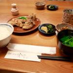 日暮里「和食ランチ♪ 竜田揚げ・秋刀魚定食」谷中 たんひょう亭