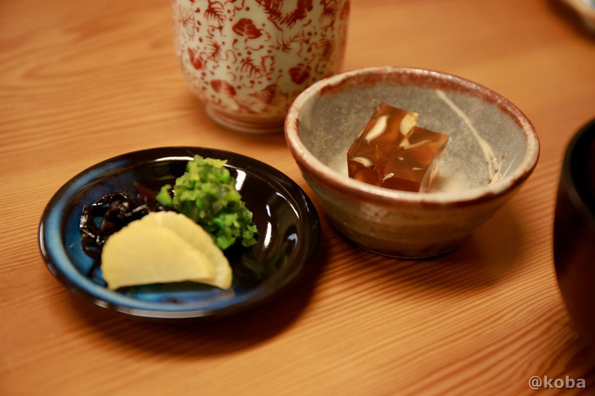小鉢煮こごりの写真|たんひょう亭(タンヒョウテイ) 谷中 和食ランチ 食事処|東京都台東区・日暮里駅