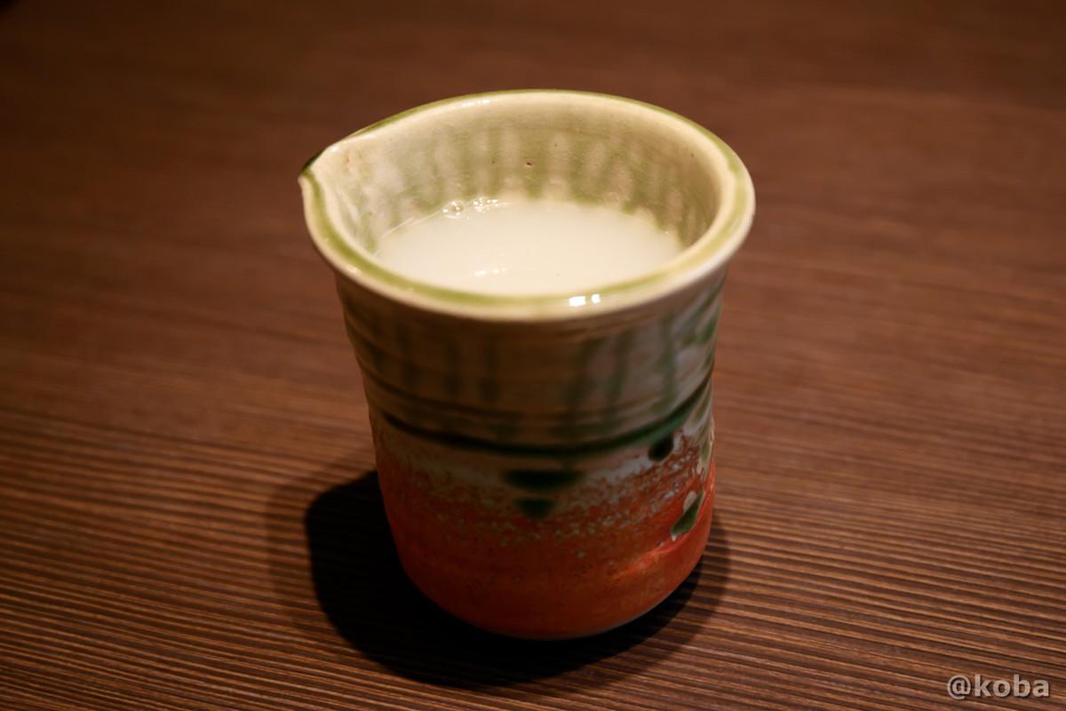 濃厚なポタージュ系の蕎麦湯の写真|人と木(ひととき) 手打ち蕎麦 ランチ 食事処|東京都葛飾区・堀切菖蒲園駅