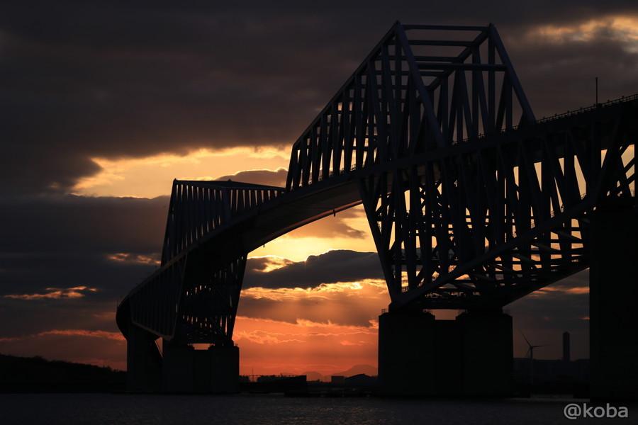 東京ゲートブリッジ夕陽の写真|こばフォトブログ