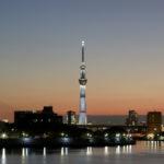 東京スカイツリー「白色のライティング」 葛飾区 中川より