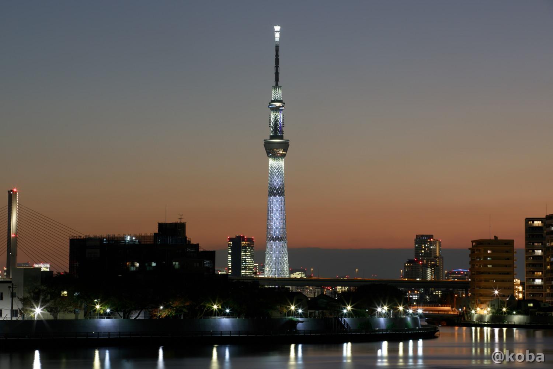 東京スカイツリー|白色のライティング|かつしかく なかがわ|こばフォトブログ