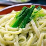 立石「色鮮やか 小松菜うどん」四ツ木製麺所