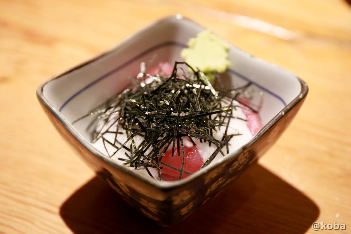 マグロ山かけ 420円の写真|青砥 小江戸(こえど) もつ焼き 居酒屋 |東京都葛飾区・青戸