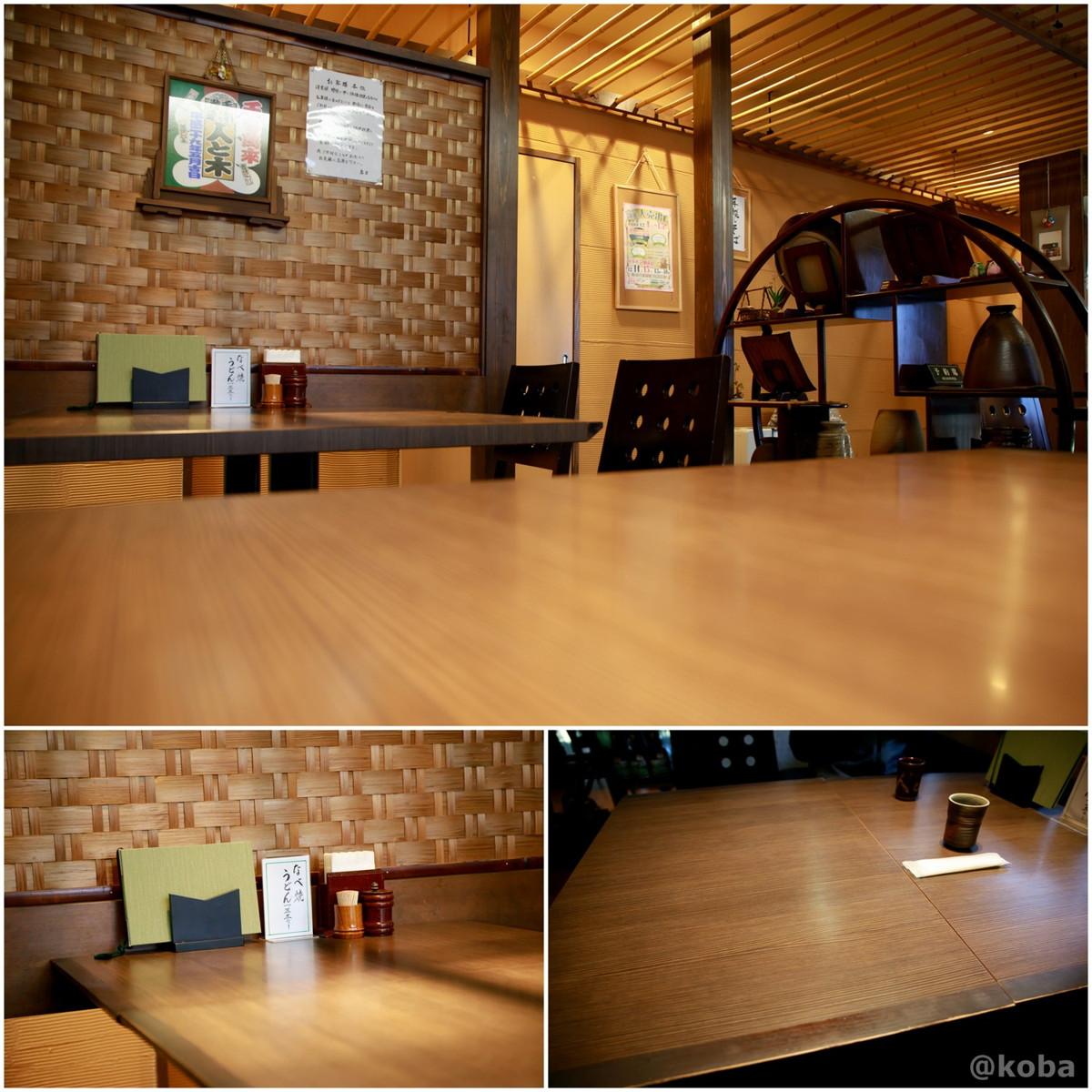 内観 テーブル席の写真|人と木(ひととき) 手打ち蕎麦 ランチ|東京都葛飾区・堀切菖蒲園駅
