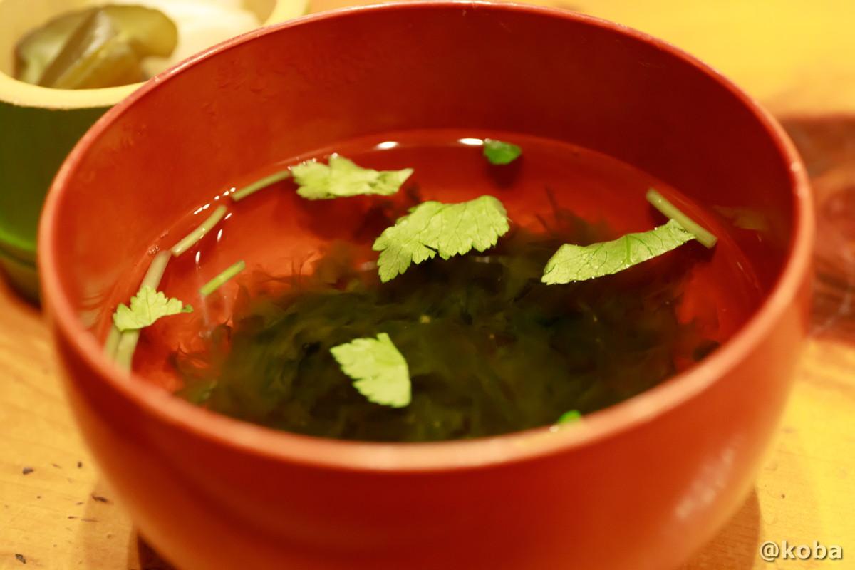 お吸い物 海苔の風味が美味しい|玉寿司(たまずし)鮨ランチ|東京都葛飾区・新小岩|こばブログ