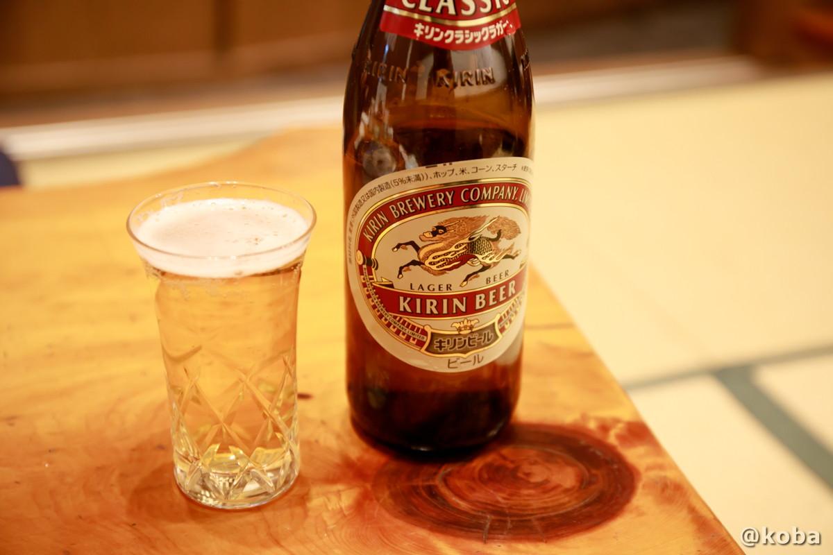 キリンラガー瓶ビールの写真|玉寿司(たまずし)鮨ランチ|東京都葛飾区・新小岩|こばブログ