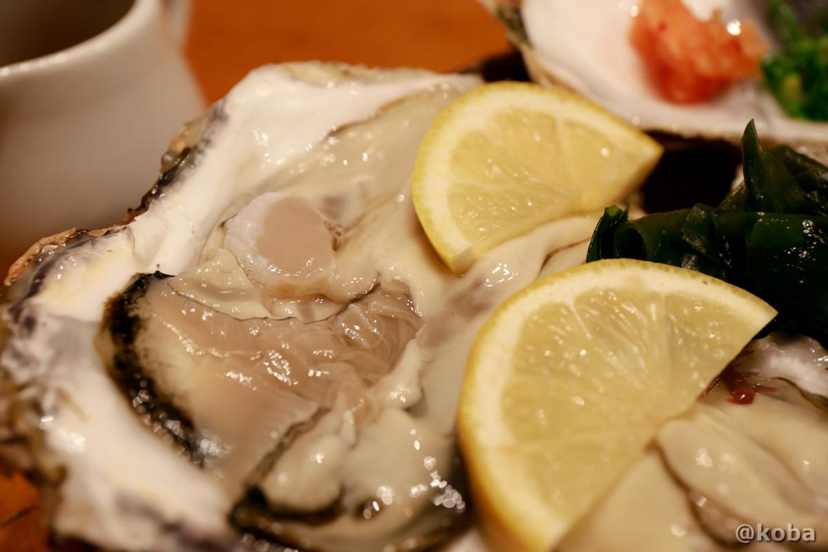 殻付き生カキ〈三陸 女川港〉の写真|玉寿司(たまずし)鮨ランチ|東京都葛飾区・新小岩|こばブログ