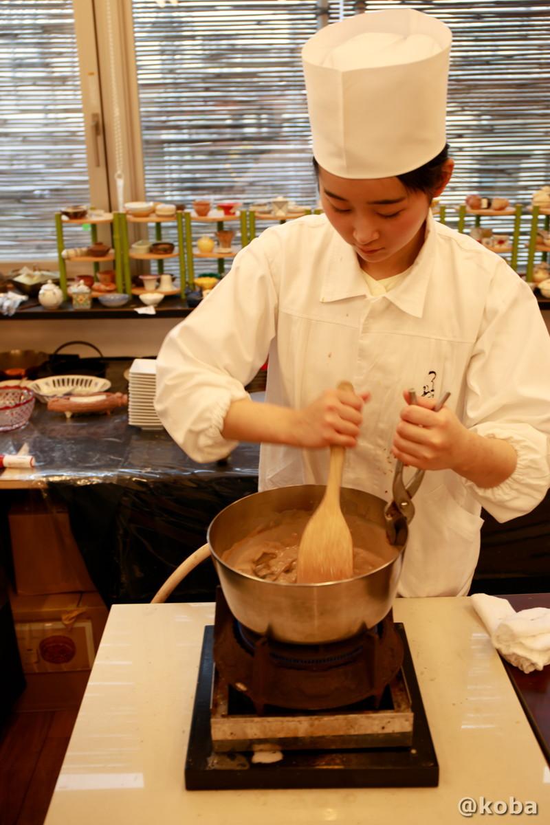 わらび餅作り 実演の写真|宇豆基野(うずきの)本店 湯葉懐石ランチ 豆腐料理店|東京都足立区・北千住|こばブログ