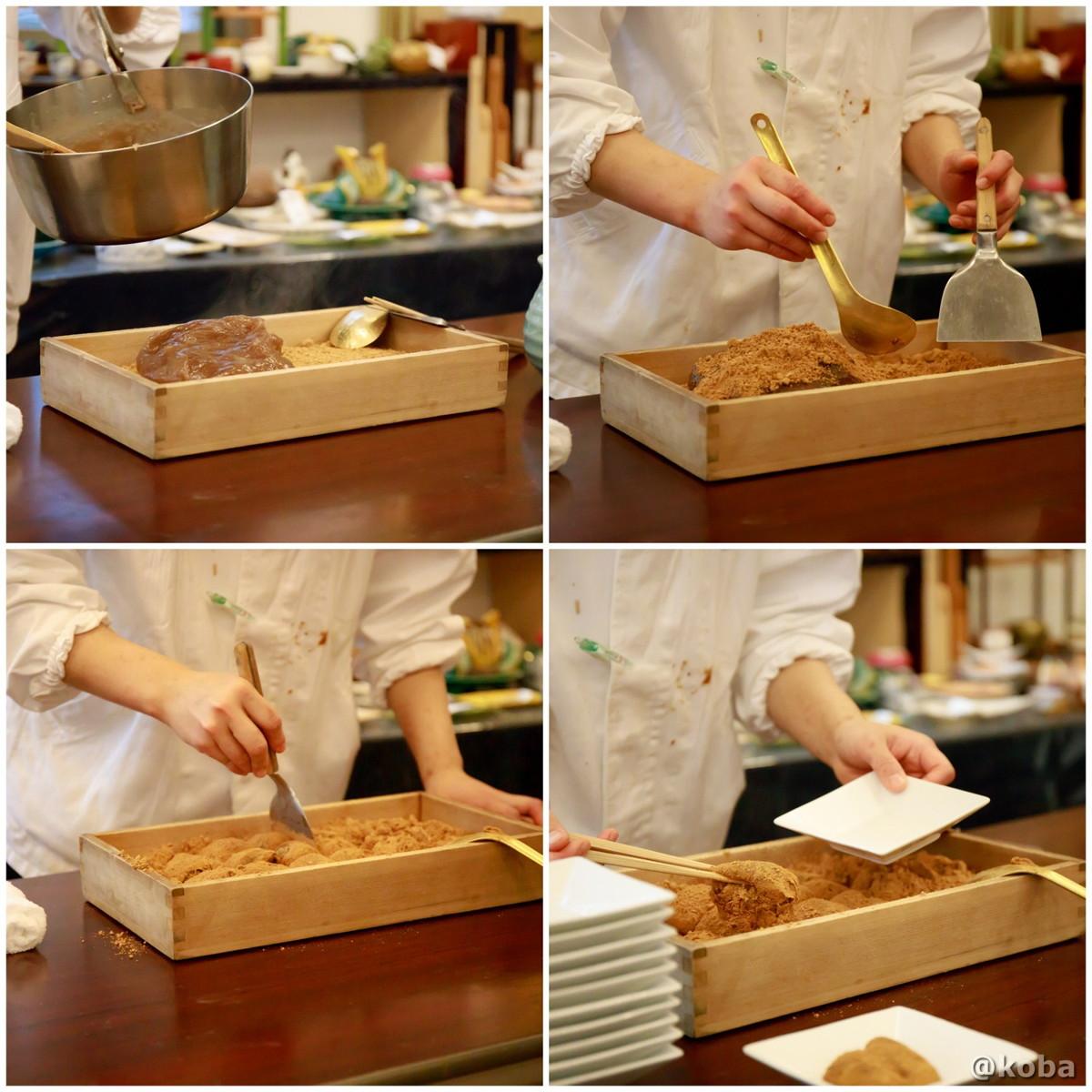 わらび餅作りの写真|宇豆基野(うずきの)本店 湯葉懐石ランチ 豆腐料理店|東京都足立区・北千住|こばブログ