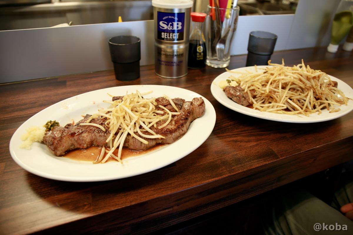 1ポンドステーキ、左が野菜少なめ、右が野菜多めの写真|コメトステーキ(米とステーキのお店) |東京都葛飾区・新小岩駅・松島|こばブログ
