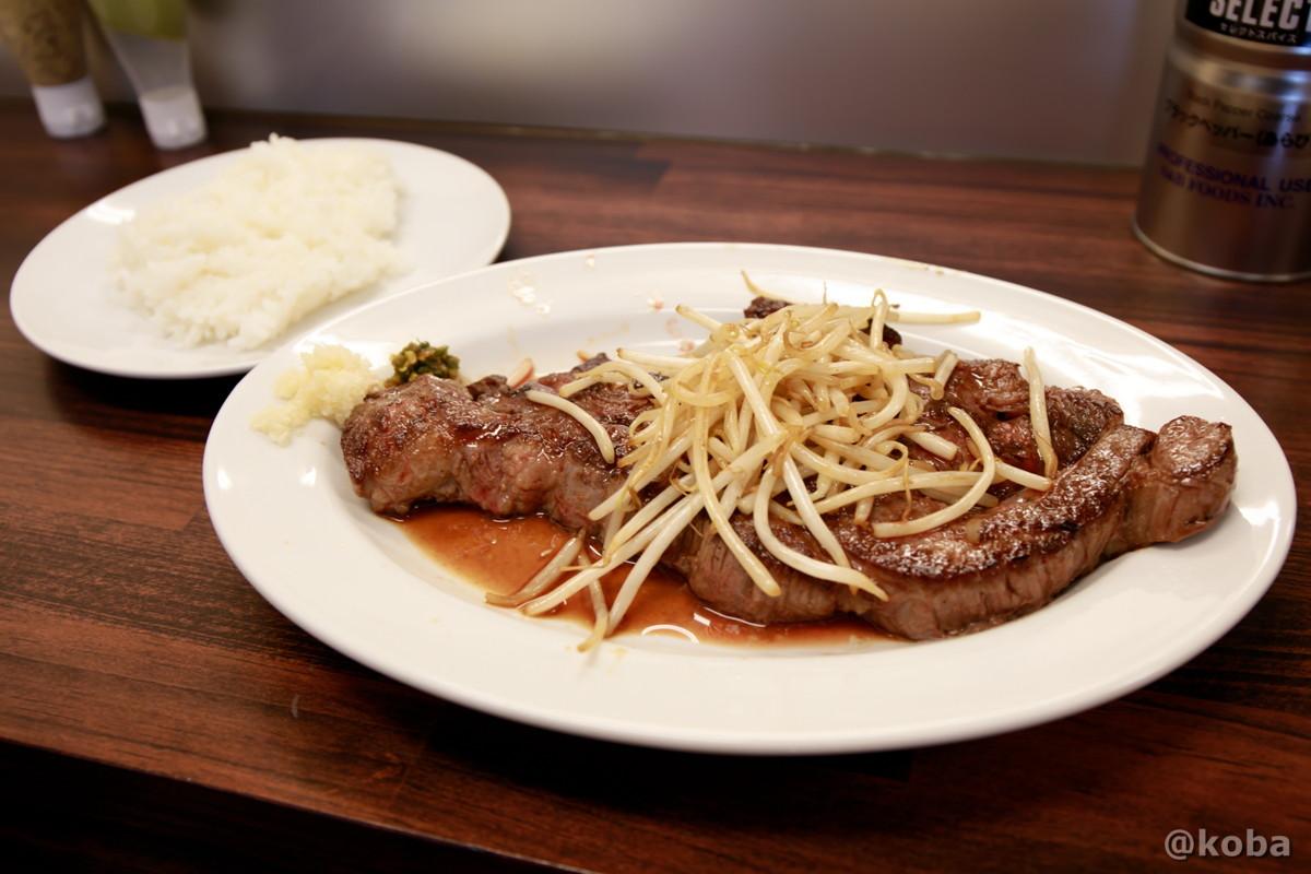 1ポンドステーキとライスの写真|コメトステーキ(米とステーキのお店) #コメステ |東京都葛飾区・新小岩駅・松島|こばブログ