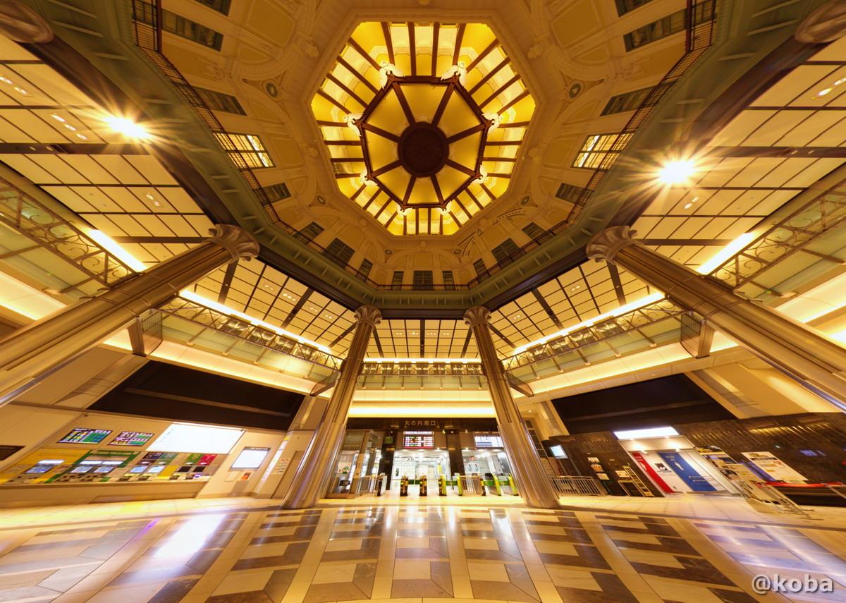 東京駅 朝の丸の内南口改札前|360°パノラマ画像トリミング|東京都千代田区丸の内|こば ブログ