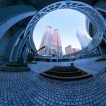 東京都庁「早朝」2月|360°パノラマ画像|東京都新宿区西新宿|こばフォトブログ