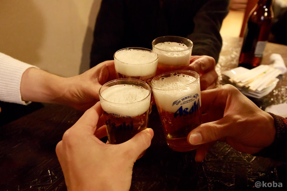 乾杯の写真 酒蔵 庵(いおり)昭和 居酒屋 東京都葛飾区・新小岩 こばブログ