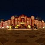 [360]東京駅「真夜中の駅舎」丸の内駅前広場 2月