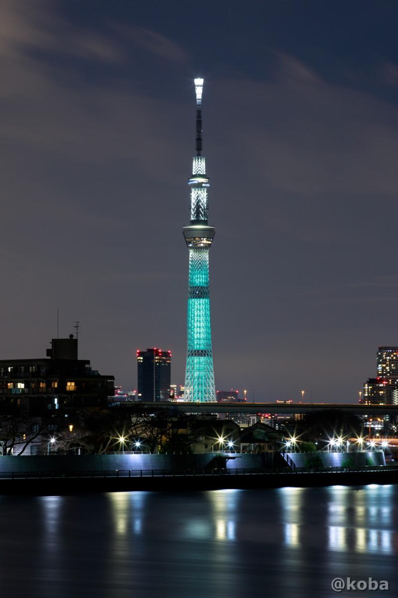 『FINAL FANTASY Ⅶ REMAKE』コラボ限定。魔晄の色をイメージした特別ライティングの写真|東京スカイツリー ファンタジー|葛飾区・中川|こばブログ
