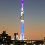 東京スカイツリー「青色のライティング」葛飾区 中川より