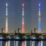 東京スカイツリー「シン・エヴァンゲリオン劇場版」葛飾区 中川より 全5種類のライティング