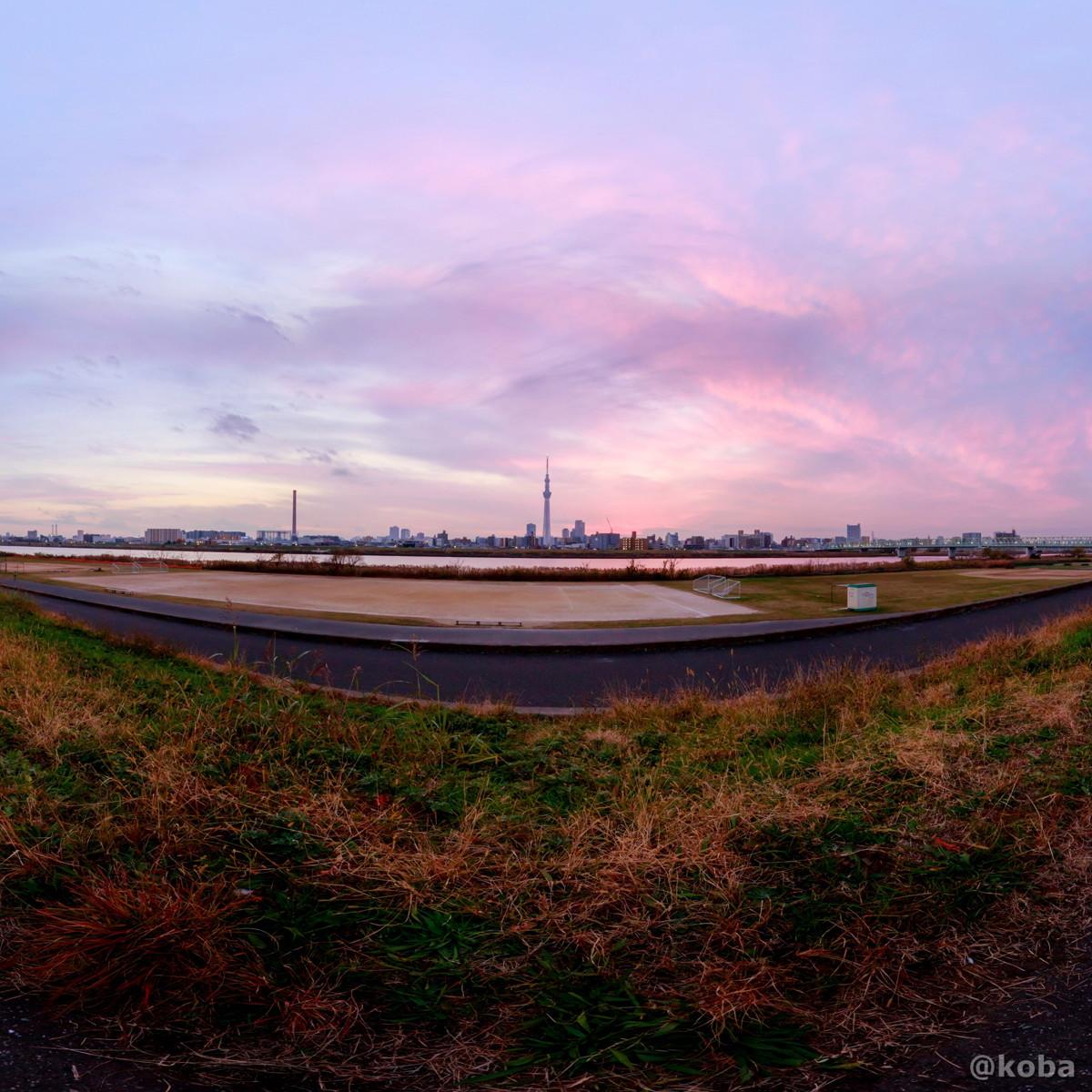 正距円筒投影|360°パノラマ画像|東京都葛飾区東四つ木避難橋|Canon EOS 6D EF16-35mm F2.8L III USM|こばフォトブログ