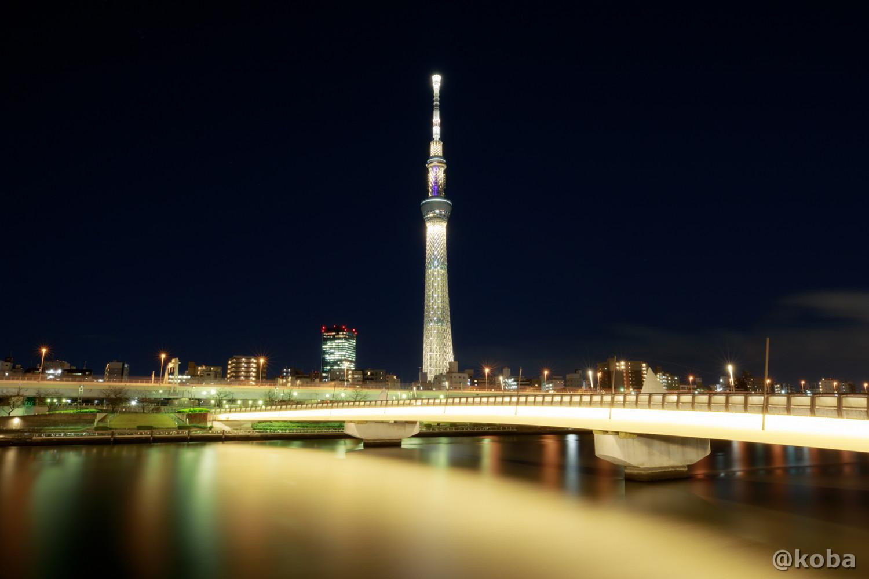 一日限定の桜ゴールド「東京2020オリンピック聖火リレー」のスタート100日前を記念したライティング|東京スカイツリー 台東区 桜橋(さくらばし)|こばブログ
