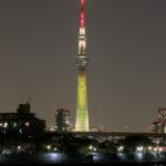 東京スカイツリー「明花」5種類のライティング 葛飾区 中川より
