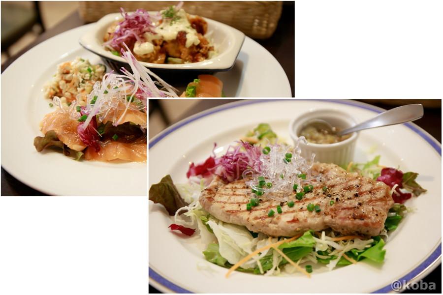 豚ロースの黒こしょう焼 と ワンプレート盛り合わせの写真|ダイニングカフェ&バーシバサキ(だいにんぐかふぇ&ばー しばさき)洋食|東京都葛飾区・新小岩駅|こばフォトブログ