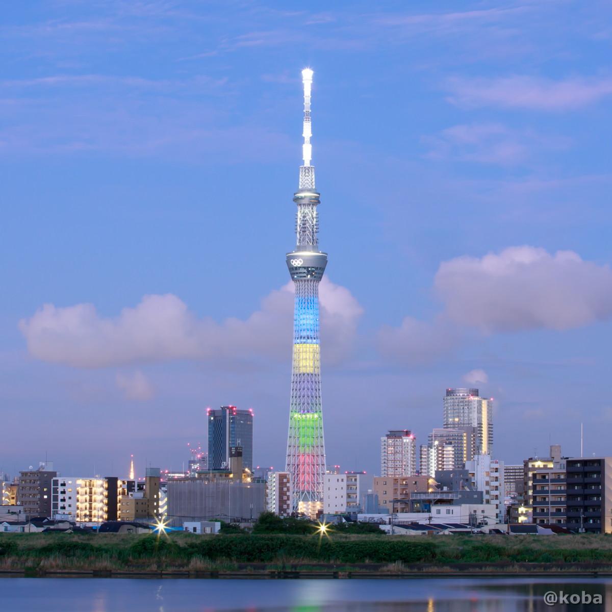 早朝のスカイツリー 東京2020オリンピック競技大会開催 tokyo2020 Olympic 葛飾区・四ツ木(よつぎ) こばブログ