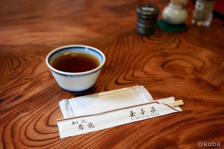 お茶 おしぼり 箸の写真 玉子家(たまごや) 割烹・小料理屋・ビアガーデン 東京都葛飾区・四ツ木駅 こばフォトブログ