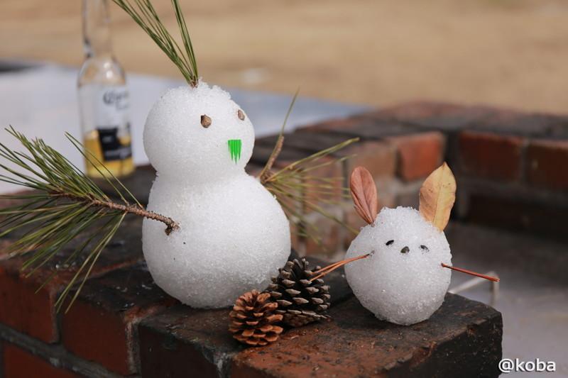 雪うさぎと雪だるま(モンスターゆきお)BBQurayasu